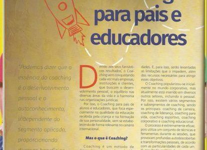 Matéria sobre coaching para pais e educadores na revista Integração